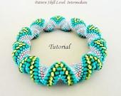 BUMPS Cellini spiral beaded bracelet beading tutorial and pattern seedbead beadwork jewelry beadweaving tutorial beading pattern instruction