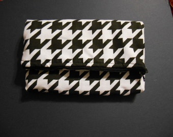 Clutch Bag or Purse,  Houndstooth print