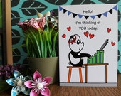 Thinking of You - Panda Greeting Card