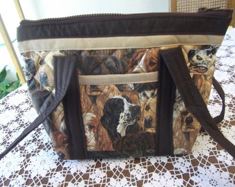 Dogs Quilted Purse