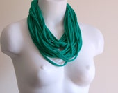 Infinity T Shirt Scarf - Fabric Necklace - Cotton Jersey T Shirt Scarf