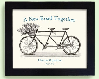 Wedding Gift - Unique Engagement Gift - Wedding Decor - Gift for Couples - Bicycle for Two - Bridal Shower