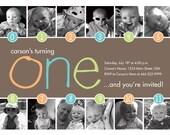Timeline 1st Birthday Invitation (Boy or Girl) - Digital File