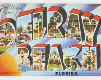 Greetings from Delray Beach Florida Fridge Magnet