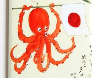 Japanese Octopus Fridge Magnet