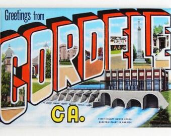 Greetings from Cordele Fridge Magnet
