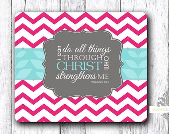 Mouse Pad - Scripture - I Can Do All Things- Religious