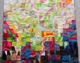 Art Quilt  31x39, titled Shekinah, Japanese Subtle Color Shifts, Fibre' Art