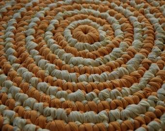 Yellow circle rug