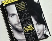 SILVER LININGS PLAYBOOK spiral notebook journal  movie diary