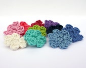 Tiny Crochet Flower Appliqués - Pick Your Colour