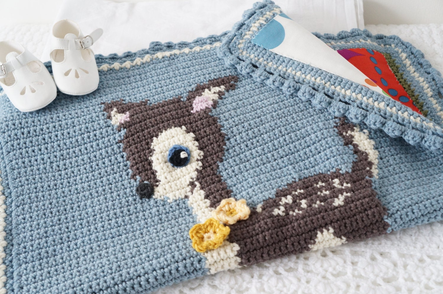 Deer Crochet Blanket Baby Afghan Pattern Woodland Theme