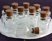 10 Bottles, Tiny Bottles with Corks, Glass Bottles, Tiny Glass Bottles, Glass Vials, Small Glass Vials with Corks MS-009-10