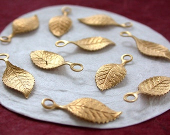 Leaves,Vintage Style,Supplies,Scrap booking,Collage,Craft Supplies,Jewelry Supplies,Made in USA,Wedding Supplies,Brass Leaves, STA-138