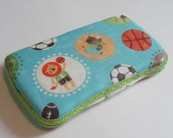 Baby Wipes Case, Travel Baby Wipes Case In Jungle Animal Sports Print