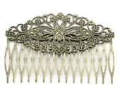 10 Hair Combs Bronze - WHOLESALE -  81x55mm - Ships IMMEDIATELY  from California - HF42a