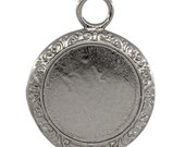 20 Cabochon Frames - Holds 20mm - Gunmetal - 34x26mm - Ships IMMEDIATELY from Califronia - SC944a