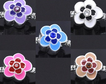 SALE Assorted Beads - Flowers - 13x12mm - 5pcs - Ships IMEDIATELY  from California - B965