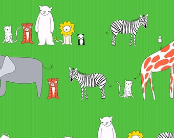 Andover - Zaza Zoo by Marisa and Creative Thursday - Animals Green