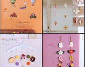 Felt Mobiles Pattern, Kawaii Ebook, Sew Mobiles, Sew Garland, Free Shipping No.44