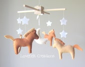 baby mobile - baby crib mobile - horse mobile