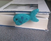 Fish bookmark needle felted fish gift for teachers booklovers