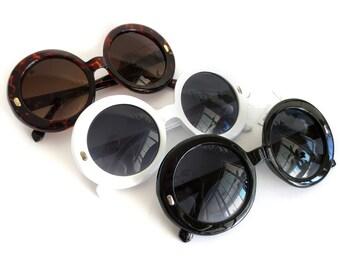 Retro Round Sunglasses - UV 400 - Ready to Embellish