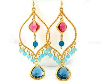 Bollywood Earrings Bollywood Chandelier Earrings Gypsy Boho Statement Earring Indian Inspired Jewelry Gift Bohemian Style Gift Idea For Her