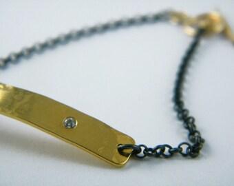 Gold bar bracelet thin gold bracelet dainty bar bracelet Gold silver bracelet