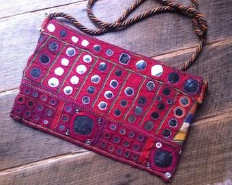 Vintage textile tribal Banjara Shoulder Bag