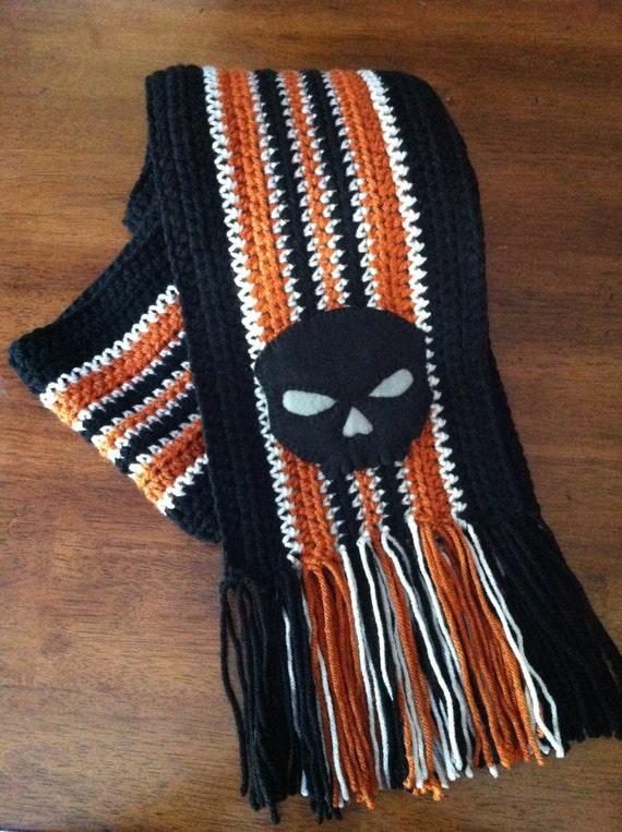 Items similar to Harley Davidson Inspired Striped Skull ...