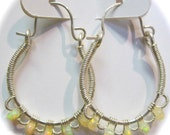 Ethiopian Opal and Sterling Silver Lace Hoop Earrings, Absolutely  Gorgeous No Flaws