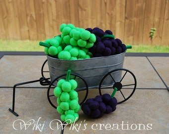Felt Food Grapes