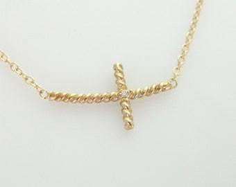 Gold Twisted Cross