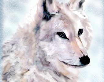 Beautiful Wolf Note Cards