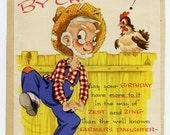 Vintage 1947 Birthday Card-Farmers Daughter