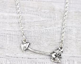Cupid Necklace - Arrow Necklace - Romantic Handmade Jewelry - N655