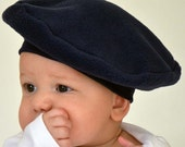 Baby Hat Kids French Beret Navy Fall Winter Outer Wear Photo Prop Paris Hat Birthdays Toddler Hat Kids Hat French Beret Childs Hat Costume