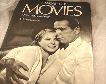 Collectible book of movie stars, A World of Movies by Richard Lawton
