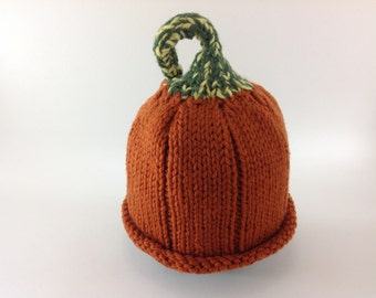Pumpkin  Newborn Baby Hat - A little pumpkin hat for your pumpkin!