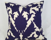 Thomas Paul - Botanical -  Decorative Pillow Cushion Cover - Accent Pillow - Throw Pillow - amethyst - purple - 16 x 16 inch