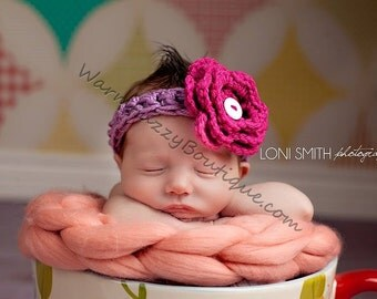 Baby Flower Headband - Newborn Child Girl Costume Winter  Photo Prop Christmas Outfit