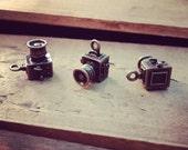 3D Antique Retro Camera Charms Antique Bronze 35mm Camera Photography Charm Photo Charm Vintage Style (BD147)