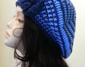 Sale - Crocheted Beret Hat, Boho Hat, Crochet Beret, Beret, Slouchy Beret Hat. FREE UK DELIVERY