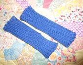 Royal Blue 100 Percent Wool Fingerless Gloves