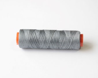 11 yards Grey Waxed Linen Cord, Jewelry thread, Beading Thread, Book binding, Macrame Cord, Polyester Cord, Grey waxed cord Macrame Thread