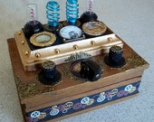 Steampunk Control Console Wooden Trinket Box with FREE GIFT!