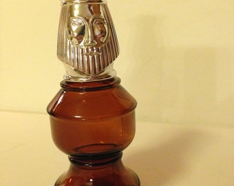Vintage Avon King Chess Piece Decanter Tai Winds After Shave Vintage Avon Bottle Brown Glass