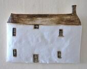 Cornish Cottage, Cottage painting, cottage wall hanging, quaint cottage.