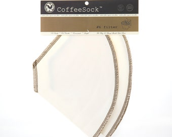 Reusable Organic Cotton Number 6 Cone coffee filters